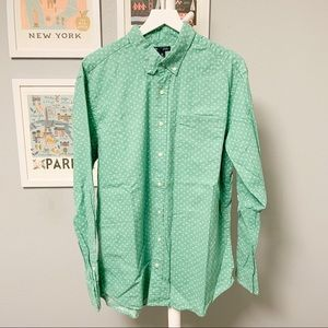 Gap Palm Tree Pattern Linen Button-Down Shirt XL
